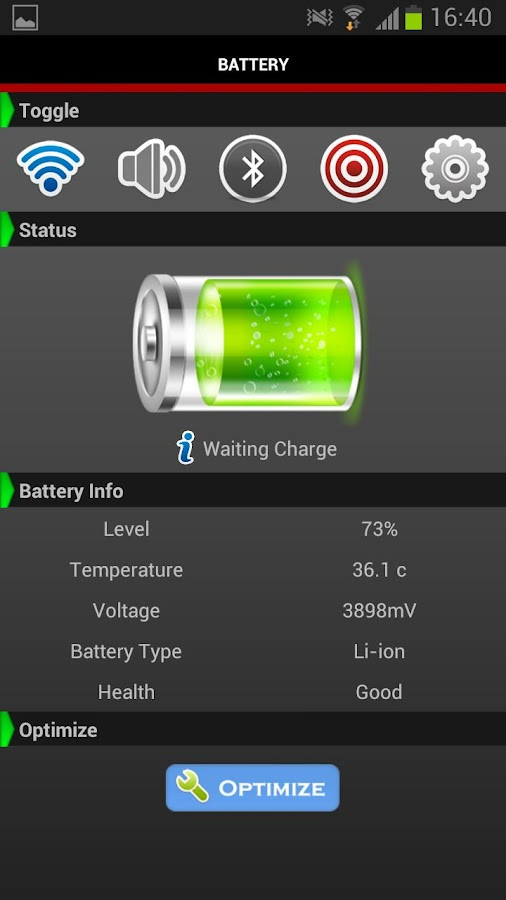 Battery Widget Viewer Free - screenshot