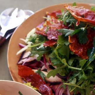 Portobello Salad with Crispy Prosciutto.