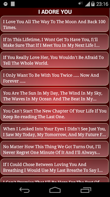 Sexy Romantic Love messages - screenshot