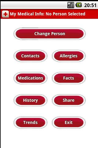 My Medical Info- screenshot