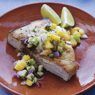 Swordfish with Pineapple Relish.