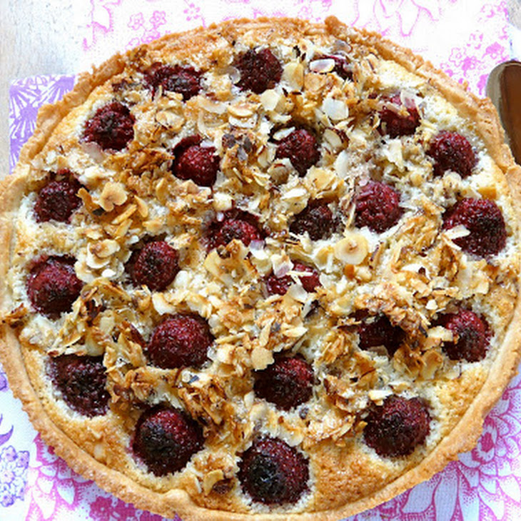 Apple Pie and Raspberry and Almond Cream and Also a Variant with Blueberries Recipe
