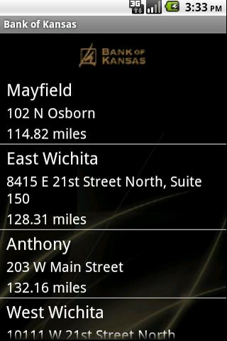 Bank of Kansas' Bank App - screenshot