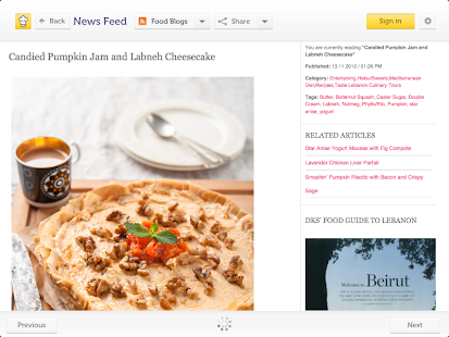 Cooklet for tablets- screenshot thumbnail