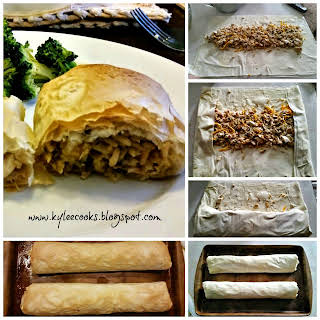 Chicken & Wild Rice Strudels.