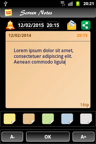 Screen Notes Trial - screenshot