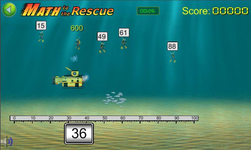 Math to the Rescue Game - screenshot