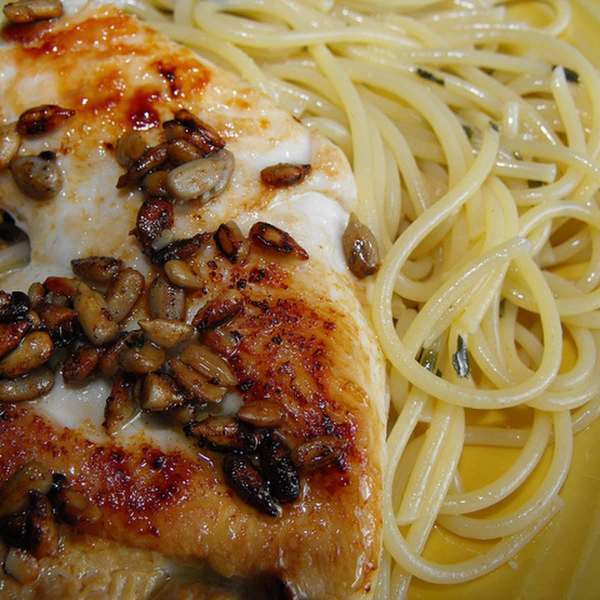 Herbal Spaghetti  later than Chicken
