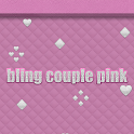 Bling Couple Pink Go Launcher icon