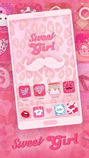 Sweet Girl GO Launcher Theme