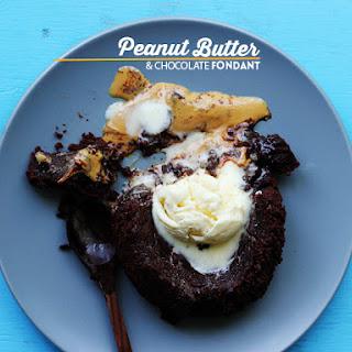 Peanut Butter Chocolate Fondant