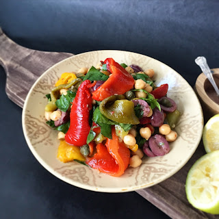 Tri-colour Roasted Pepper Salad.