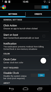 CenterClock [Root] - screenshot thumbnail