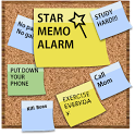 Star memo alarm - popcorn note icon