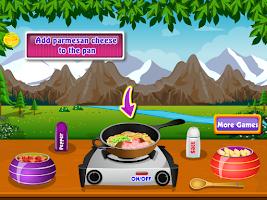 Screenshot of preparing pasta cooking games