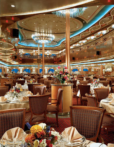 Carnival-Legend-Truffles-Restaurant - Dine on top-class cuisine served in a 1930s-era ambience at Truffles Restaurant, on Carnival Legend's Promenade deck.
