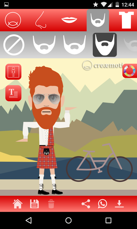 creaemotions avatar creator- screenshot
