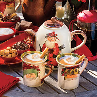 Hot Chocolate With Hazelnut Liqueur.