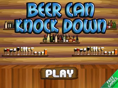 Beer Can Knockdown Strike One