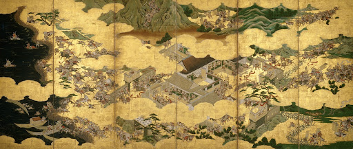 Folding Screen Depicting the Genpei Wars