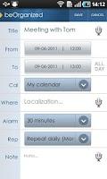 Screenshot of beOrganized Lite