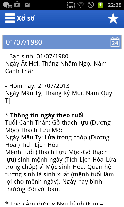 Xo so kien thiet tu dong - screenshot