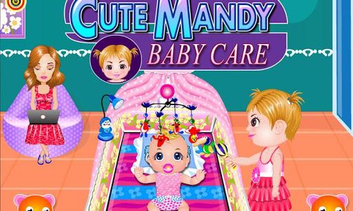 可爱的婴儿护理 - 幼儿看护