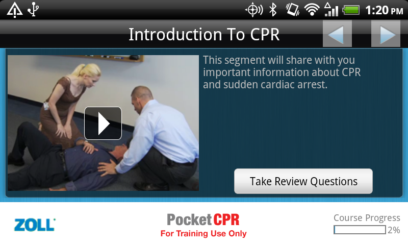 ZOLL PocketCPR- screenshot