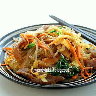 Japchae @ Korean Glass Noodle with Mixed Vegetables.