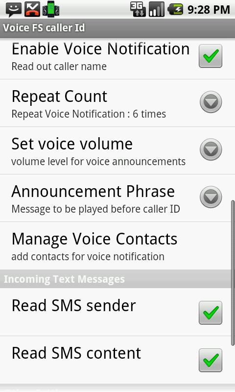Voice Full Screen Caller ID Li- screenshot