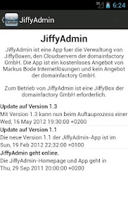 JiffyAdmin - screenshot thumbnail