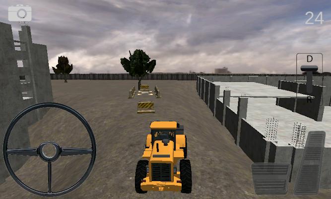 Bulldozer Parking Simulator - screenshot