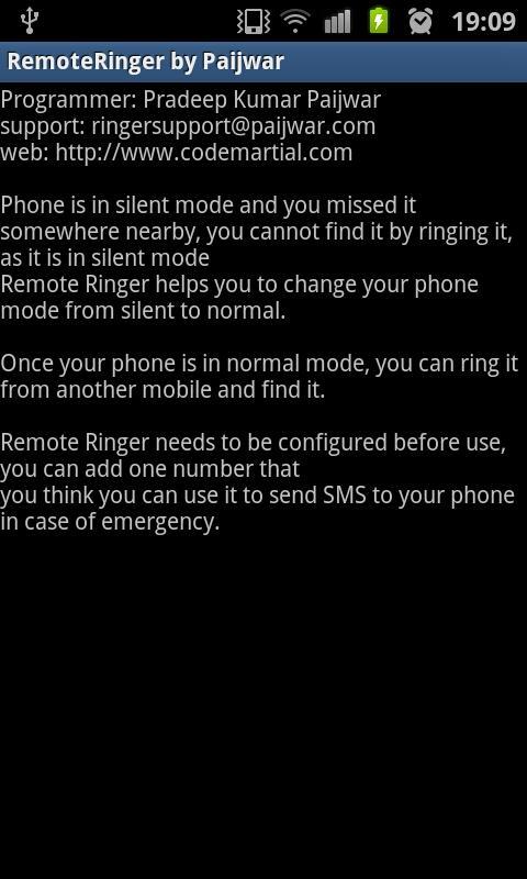Remote Ringer (FREE) - Paijwar- screenshot