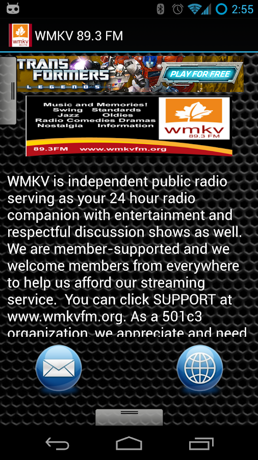 WMKV 89.3 FM - screenshot