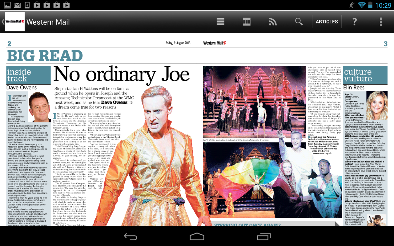 Western Mail Newspaper- screenshot