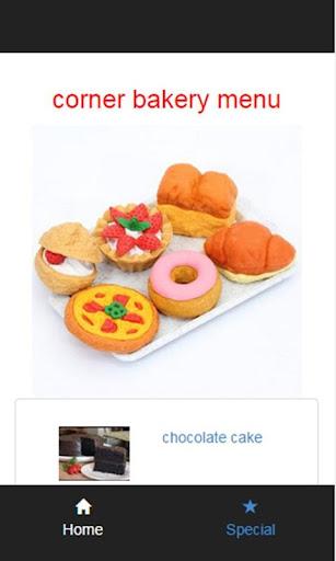 【免費商業App】corner bakery menu-APP點子