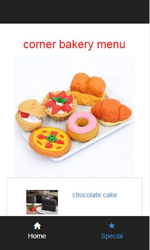 corner bakery menu
