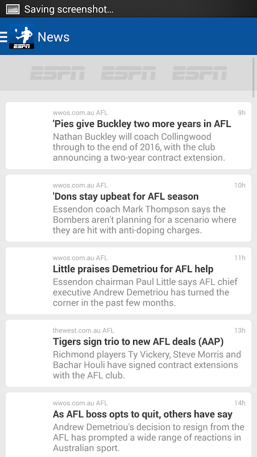 AFL Live Scores - Footy Now- screenshot