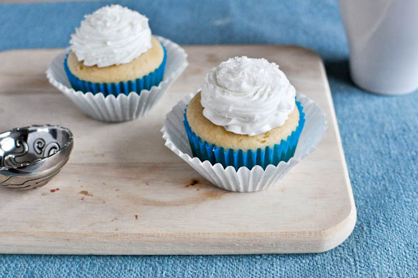 One Bowl Vanilla Cupcakes for Two Recipe