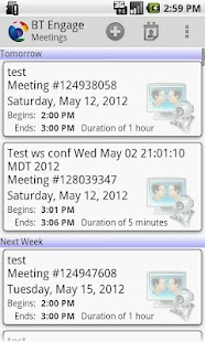 BT Engage Meeting Mobile - screenshot thumbnail