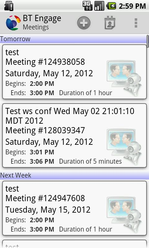 BT Engage Meeting Mobile - screenshot