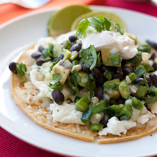 Tortilla Flat Stacks with Avocado & Lime Black Beans
