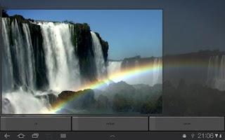 Screenshot of Waterfall & Rainbow Wallpaper