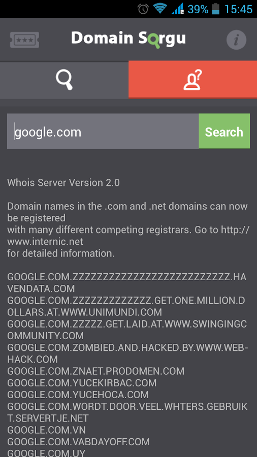 Domain Search - screenshot