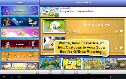 Toon Goggles Cartoons for Kids - screenshot thumbnail