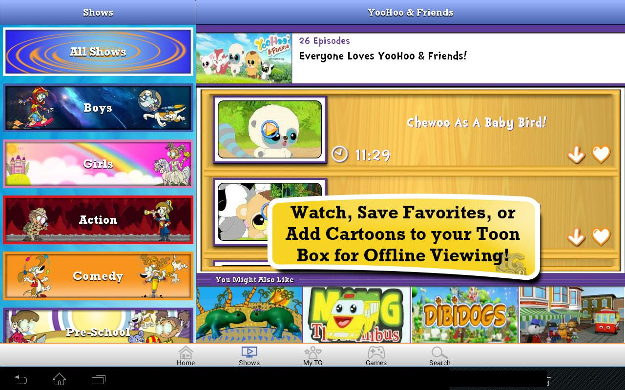 Toon Goggles Cartoons for Kids - screenshot