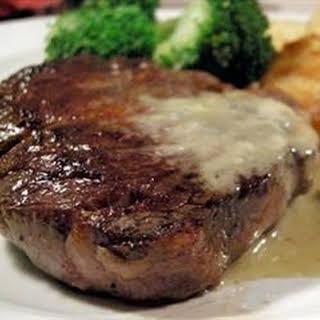 Steaks With Roquefort Sauce.