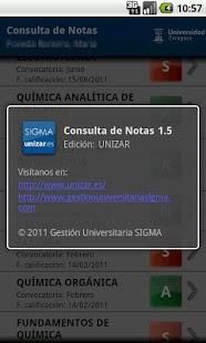 Consulta de Notas - screenshot thumbnail