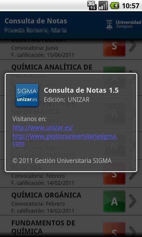 Consulta de Notas - screenshot