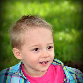 Little Mister by Tracey Knight - Babies & Children Child Portraits ( lovable, little boy, toddler, handsome, smile,  )